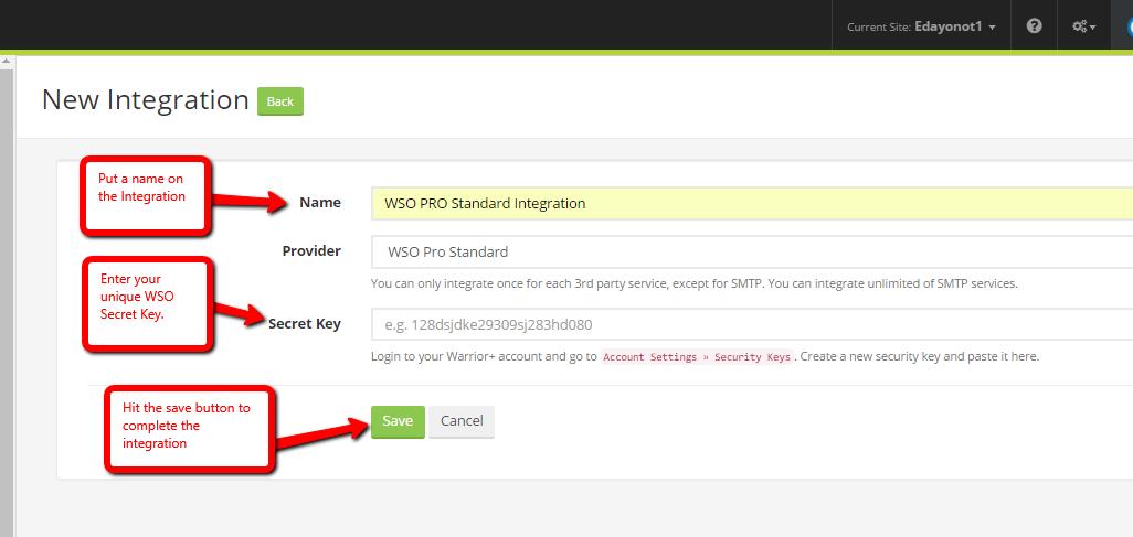 How do I integrate Kyvio with WSO PRO Standard  77e7ab189