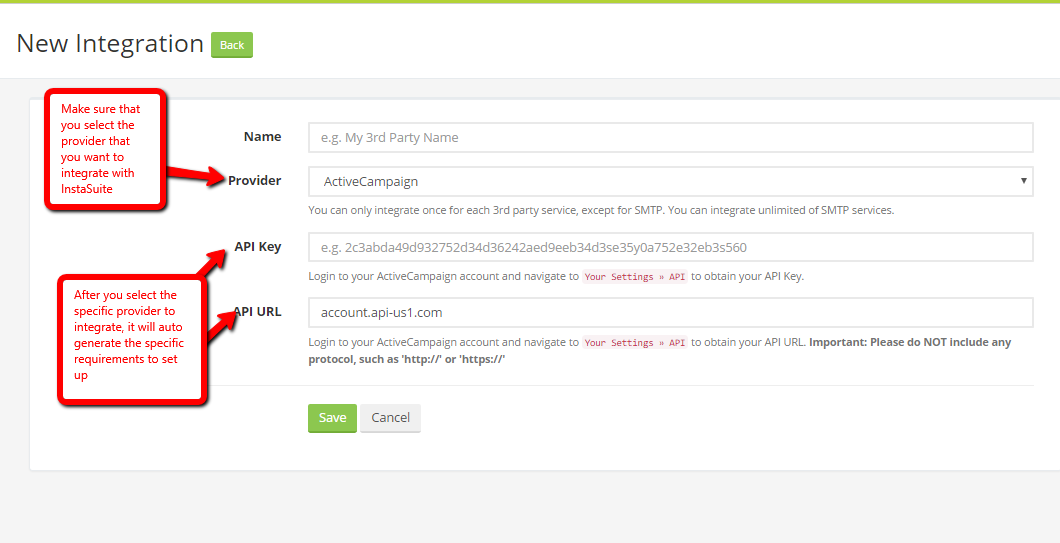 How do I integrate Kyvio with Active Campaign mailing service?